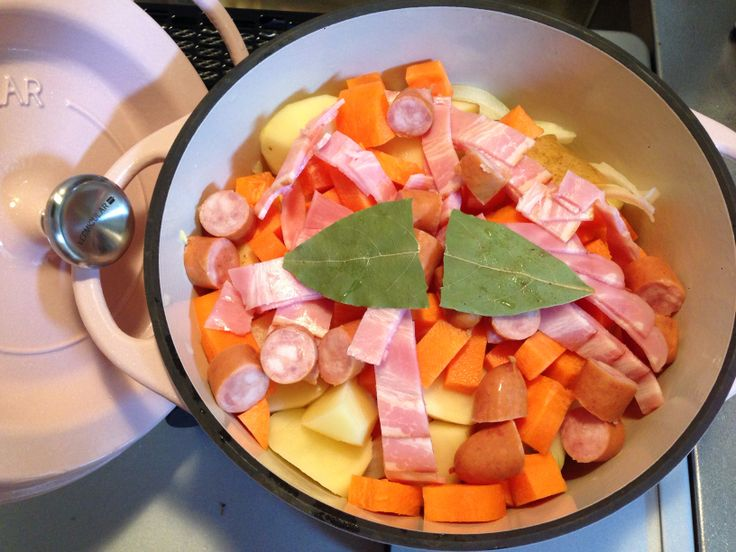 残り野菜のクリーム煮 加熱前