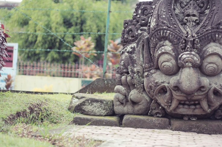 a statue at Jago Temple, Malang, East Java, Indonesia.