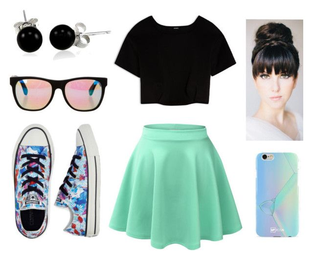 """""""cool converse"""" by hatersbackoff ❤ liked on Polyvore featuring Converse, RetroSuperFuture, LE3NO, Max&Co., UPROSA and Bling Jewelry"""