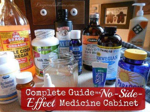 Complete Guide To A No-Side-Effect Medicine Cabinet BEST CABINET EVER  colloidal silver probiotics  cod liver oil elderberry neti pot tumeric ginseng coq10 vit b 3 alpha lipoic acid