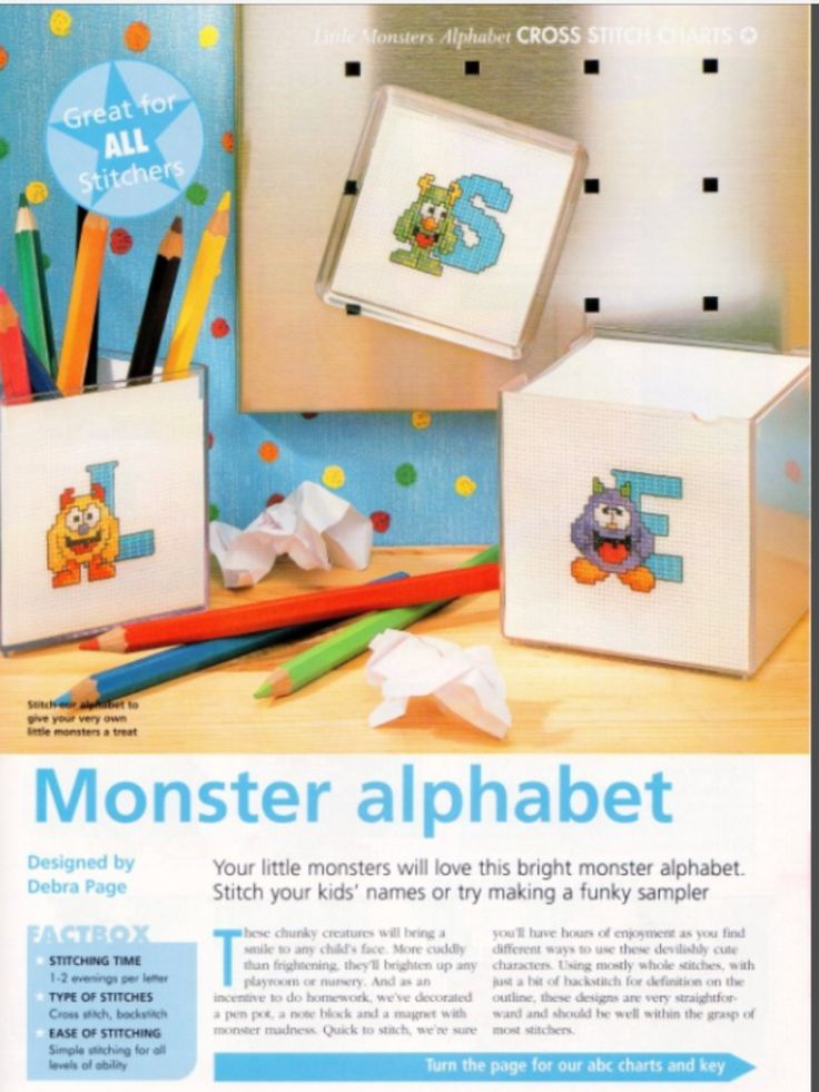 Monster Alphabet The World of Cross Stitching Issue 82 March 2004 Saved