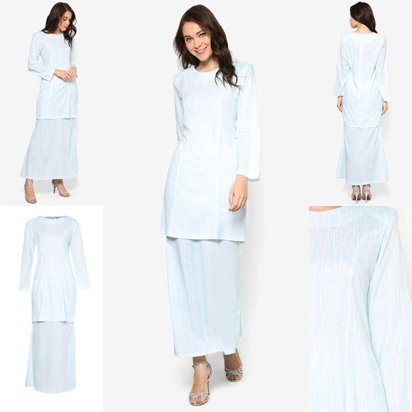 Fesyen Trend Terkini November 2016 Baju Kurung Moden Yazmein Blue By Butik Sireh Pinang | Baju Raya 2017
