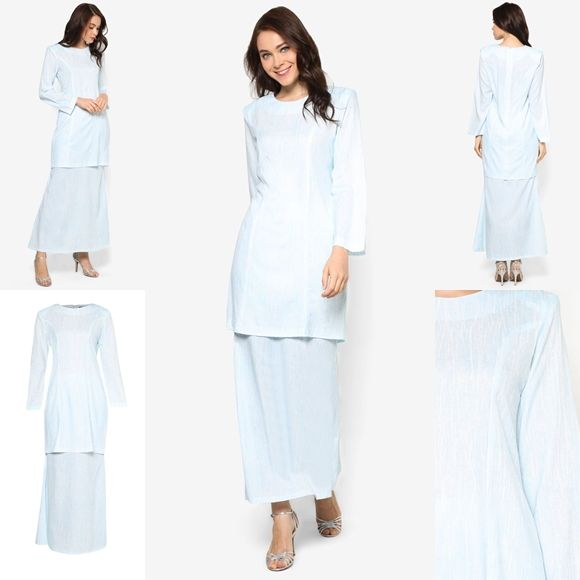 Fesyen Trend Terkini November 2016 Baju Kurung Moden Yazmein Blue By Butik Sireh Pinang   Baju Raya 2017