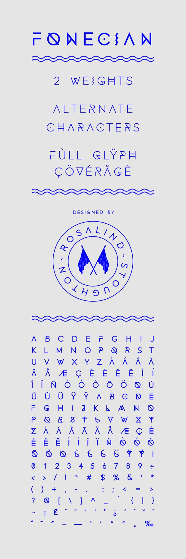 Fonecian Typeface by Rosalind Stoughton