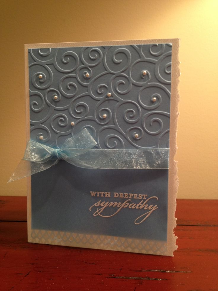 partial embossed with divine swirls EF, pearls in swirls, sentiment on bottom More