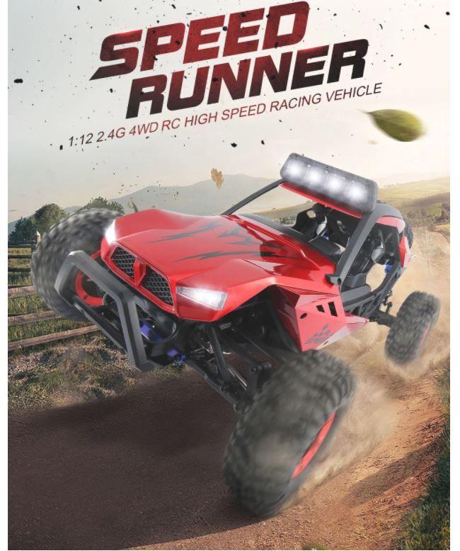 JJRC Q46 SPEED RUNNER 1:12 4WD, une voiture RC au prix de 71.30€