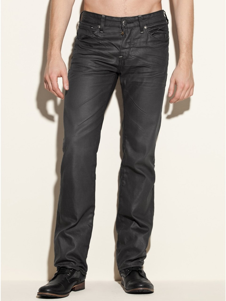 GUESS Lincoln Jeans in Solar Wash, 32 Inseam, GUNMETAL GREY (33)