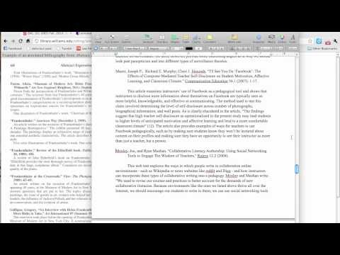 Library Blog: Making an Annotated Bibliography