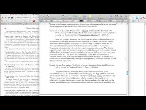 bibliography essay mla