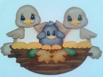 Tocg Halloween Fall Nest of Birds Crow Paper Piecing by Kira My Tear Bears | eBay