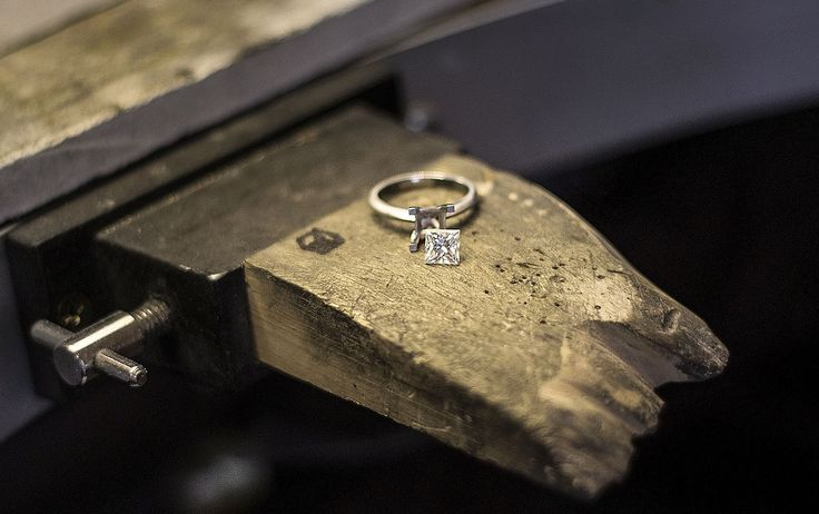 Behind the scenes... The creation of a classic Princess cut solitaire engagement ring. www.larsenjewellery.com.au  #larsenjewellery #jewellery #rings #engagementrings #princesscut #diamonds