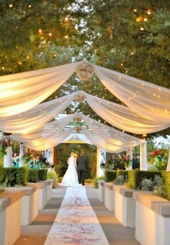 decoracion de recepcion para bodas con telas