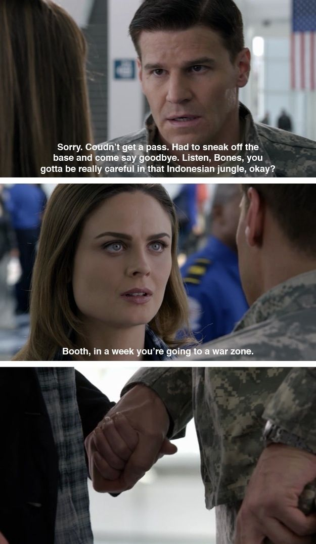 "Booth showing his gooey center. | The 23 Best Things About ""Bones"""