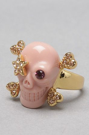Wildfox The Star Patch Skull Ring