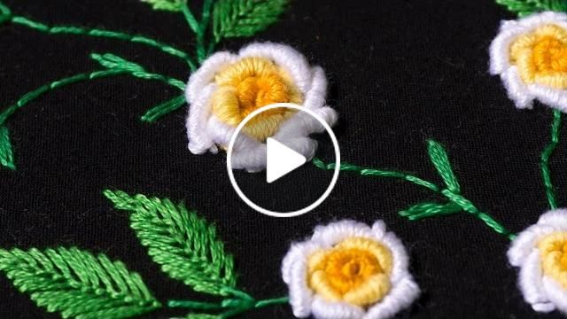 Embroidery designs by hand- Hopefully you will find my video hand embroidery tutorials just as easy to follow.  You can do a lot with it! It's an easy embroidery stitch - it looks more advanced than it actually is!   Download Pattern - https://www.pintere