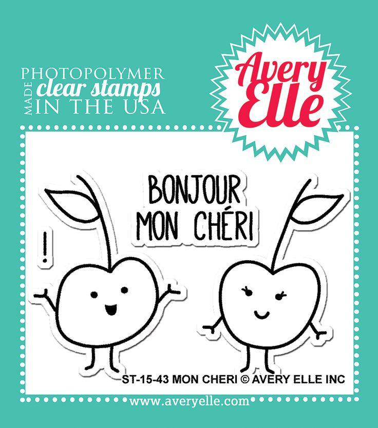 Avery Elle  - Mon Cheri Clear Stamps, $4.00 (http://www.averyelle.com/mon-cheri-clear-stamps/)