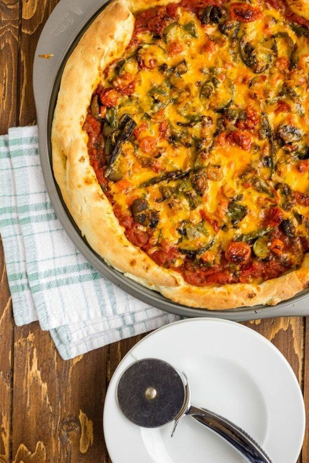 Roasted Vegetable Pizza With Ghost Pepper Sauce | 23 Spicy Dishes For People Who Love The Burn