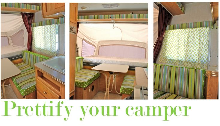 rv redecoratingCampers Cushions Redo, Popup Campers, Polka Dots, Campers Ideas, Campers Interiors Pop Up, Campers Interiors Ideas, Camps, Pop Up Campers Redo, Prettify