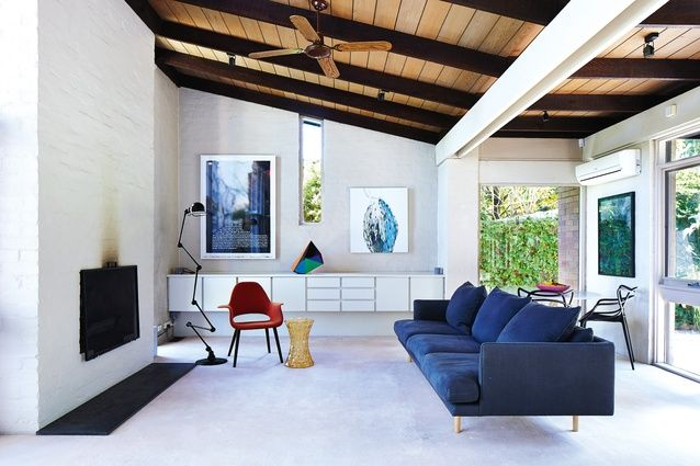"""Grange Road Townhouse """"is clearly unpretentious, comfortable and accommodating to live in."""" Artwork (L–R): Martin Smith; Gemma Smith (sculpture); Emily Ferretti."""
