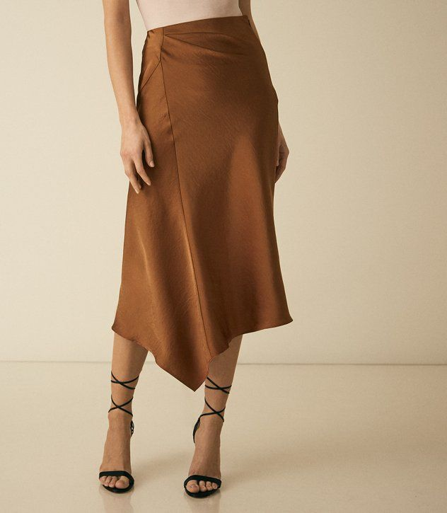 56574da2c REISS - ASPEN SATIN SLIP SKIRT | studio w in 2019 | Slip skirts ...