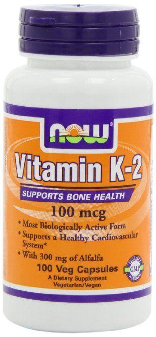 NOW Foods Vitamin  K-2,100mcg,  100 Vcaps