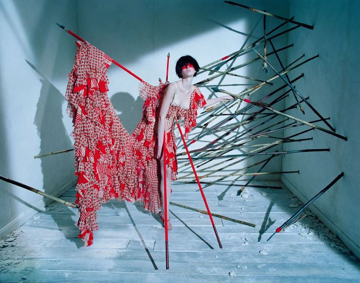 visual optimism; fashion editorials, shows, campaigns & more!: dark angel: aya jones, xiao wen ju, harleth kuusik, yumi lambert and nastya sten by tim walker for uk vogue march 2015