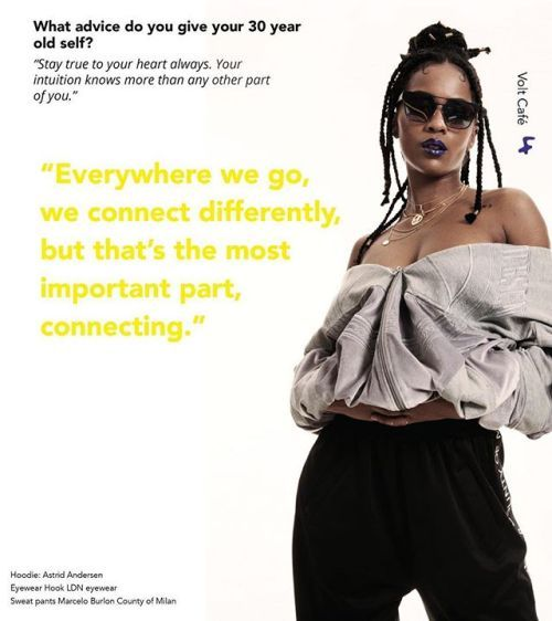We have the perfect Saturday read for you. A babble with the super cool @iamddb about topics such as her superpowers being a woman in the music industry her time in Angola and much more.  Now online at voltcafe.com Photography: Alexis Chabala @kamunika Fashion: Cynthia Lawrence-John @cynthialawrencejohn Make-Up: Dorita Nissen @doritanissen Hair: Regina Meessen @reginameessen Fashion assistants: @jelanaterbrugge  @manuela_leiva Hoodie: @astridandersens Eyewear: @hookldn Sweat pants…