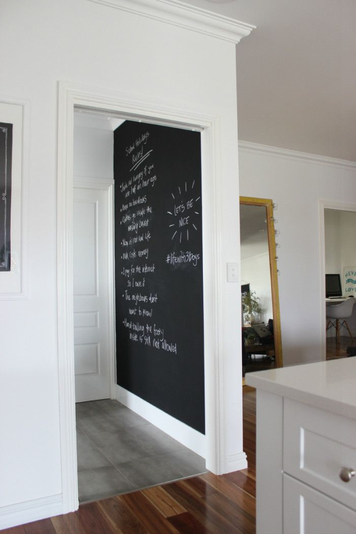 School Holiday RULES chalkboard wall laundry