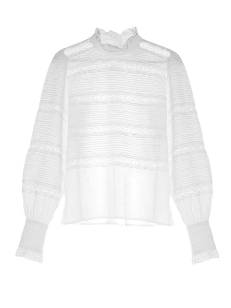 Isabel Marant Étoile hints at the new season's Victoriana vibes with this pretty white Ria blouse.