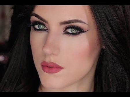 Intense Eyes & Matte Mauve Lips!