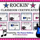 FREE- Treat your students like rocks stars with these fun classroom certificates. Four award certificates and four birthday certificates are included (in...