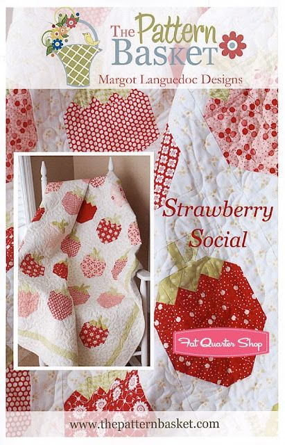Pattern of the Month August 2013: Strawberry Social - Fat Quarter Shop's Jolly Jabber