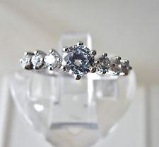 Q.v.c Argento Sterling Diamonique Multi-pietra anello frizzante Misura Q