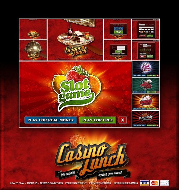 Casino Lunch - Casino online game by Javier Jiménez, via Behance