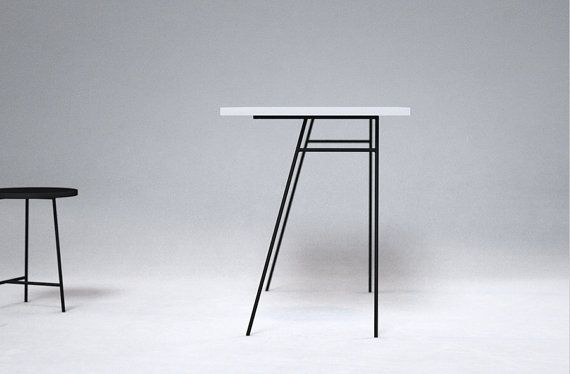 Metal desk legs by NorthShop on Etsy