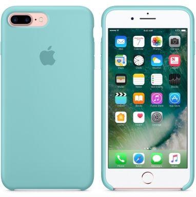 Apple iPhone 7 Plus siliconenhoesje zeeblauw  SHOP ONLINE: http://www.purelifestyle.be/shop/view/technology/iphone-beschermhoezen/apple-iphone-7-plus-siliconenhoesje-zeeblauw