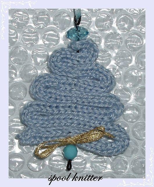 Arbre de Noël en tricotin