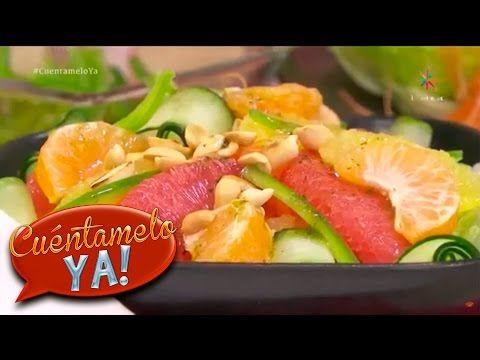 Ensalada de cítricos con vinagreta de menta   Chef Sandoval   Cuéntamelo YA! - YouTube