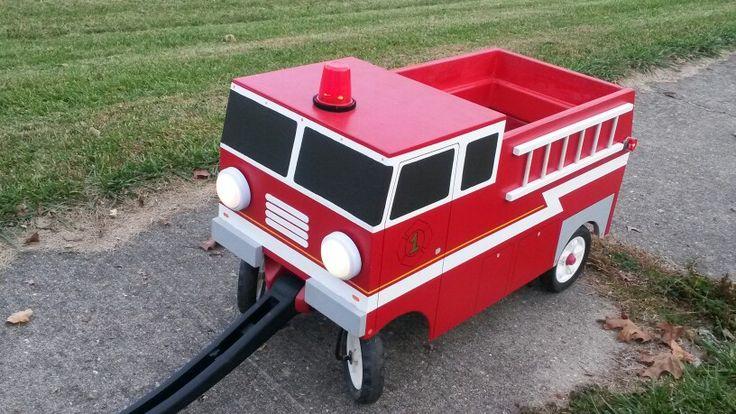Firetruck built around radio flyer wagon.