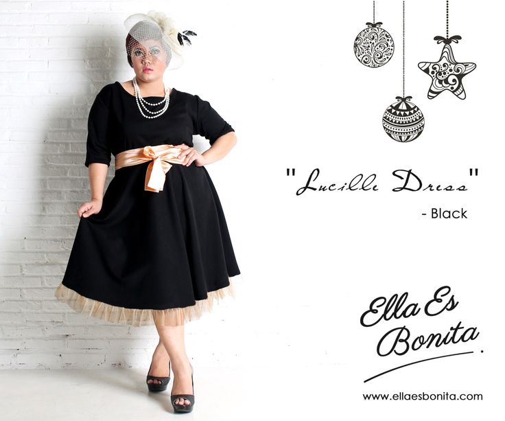 Lucille Dress - This vintage wedges dress features high quality wedges which specially designed for sophisticated curvy women originally made by Indonesian Designer & Local Brand: Ella Es Bonita. Available at www.ellaesbonita.com