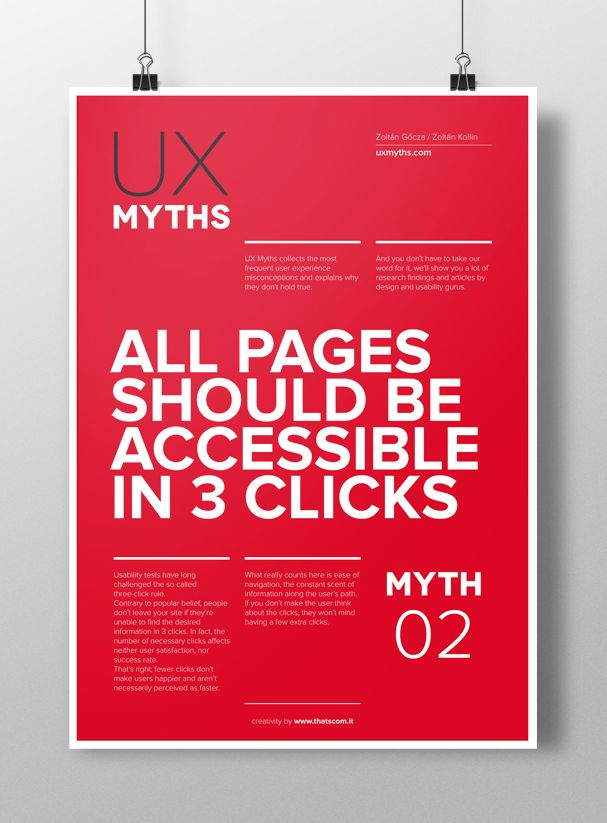 Web, design, user experience: 32 myths to be dispelled by That's Com