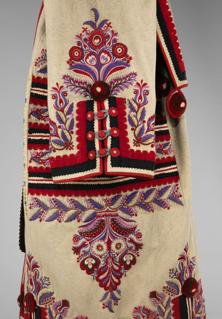 Mantle Date: late 19th century Culture: Hungarian Medium: wool, leather, metal