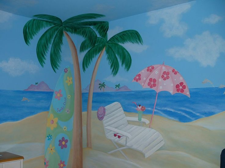 surfer girl room   Girls Room Wall Murals - Girl Theme Wall Murals by Colette - Page 2