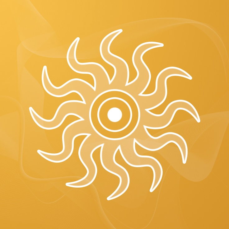 Sigils & Symbols:  #Sun #Salutation, by Sallie M. Keys: This image features the alchemical symbol for the Sun – the ultimate symbol for power. In the center of the Sun is the alchemical symbol for Gold, which represents spiritual insight, the Third Eye, and Source, or the origin of all things. Also incorporated into the work is a healing symbol used to achieve the highest stage of healing. It cleanses the body and heals the spirit.