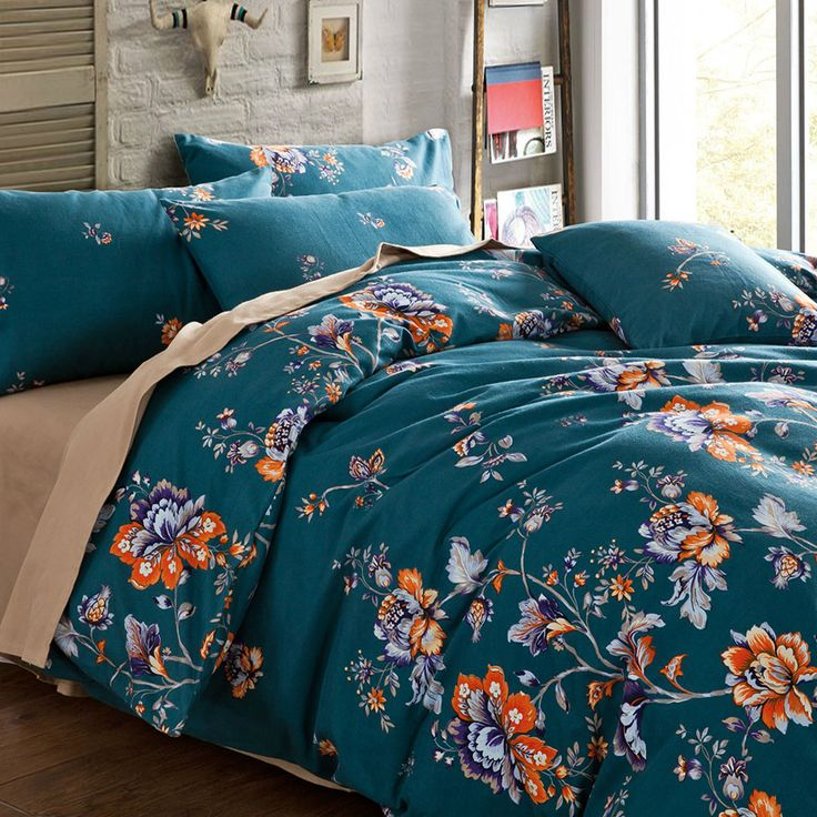 Find More Bedding Sets Information about 100% Egyptian Cotton Super King Queen Size Bedding Sets Western Pastoral Flowers New Classical style 1016 Printed BEDDING SET,High Quality cotton cupcakes,China cotton bedding set Suppliers, Cheap set diamond from E-COSYLIFE AESTHETIC HOME TEXTILE on Aliexpress.com