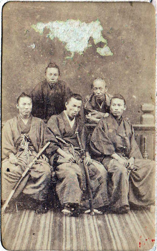 A group photo, Hirobumi Ito, Hiroshi Nakai, Okuma Shigenobu, Kuze Yoshihiro Inoue Kaoru.