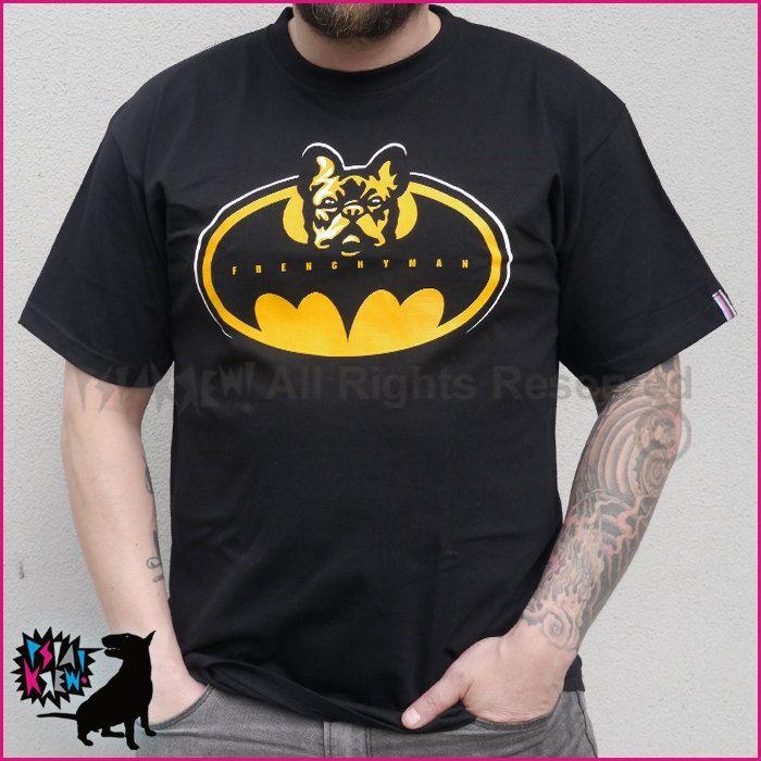 French Bulldog Frenchyman hand print T-shirt by PSIAKREW on Etsy