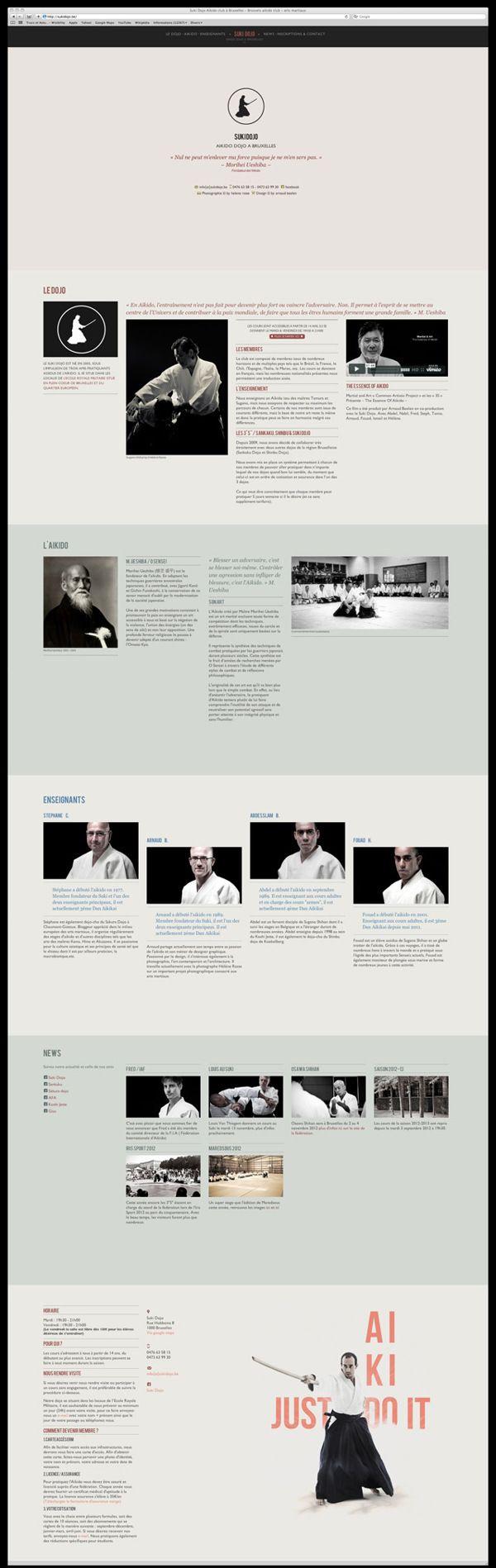 Suki Dojo Website One Page Responsive by Arnaud Beelen, via Behance