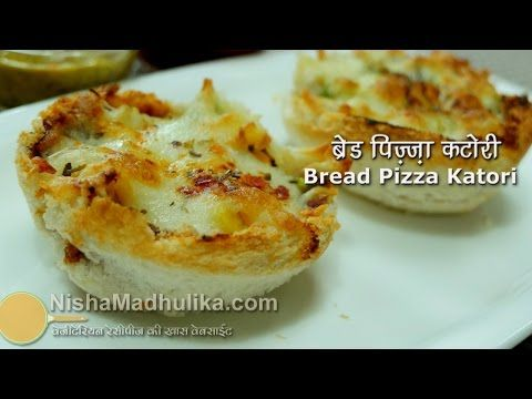 Bread Pizza Katori from Nisha Madhulika on YouTube