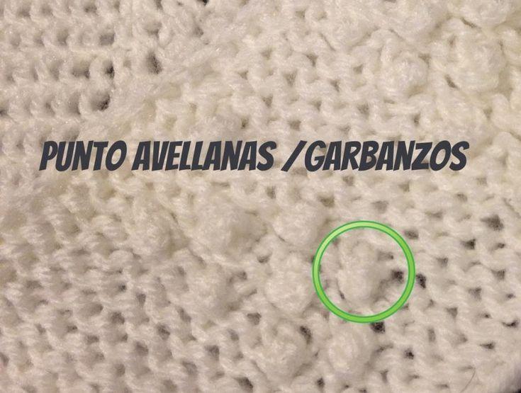 PUNTO AVELLANA / GARBANZOS, Bodoques o Nudos en Tejido Telar - Loom Knit...